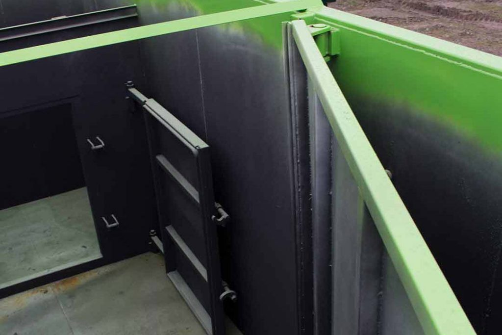 Custom Box with interior dividers and doors for smooth transition of materials