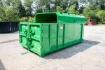 Green Chipper with Half Roof, Double Barn Doors, Sign Plates