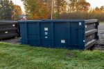 Blue Tough Box rolloff container with single side swing tailgate and comes in 15yd