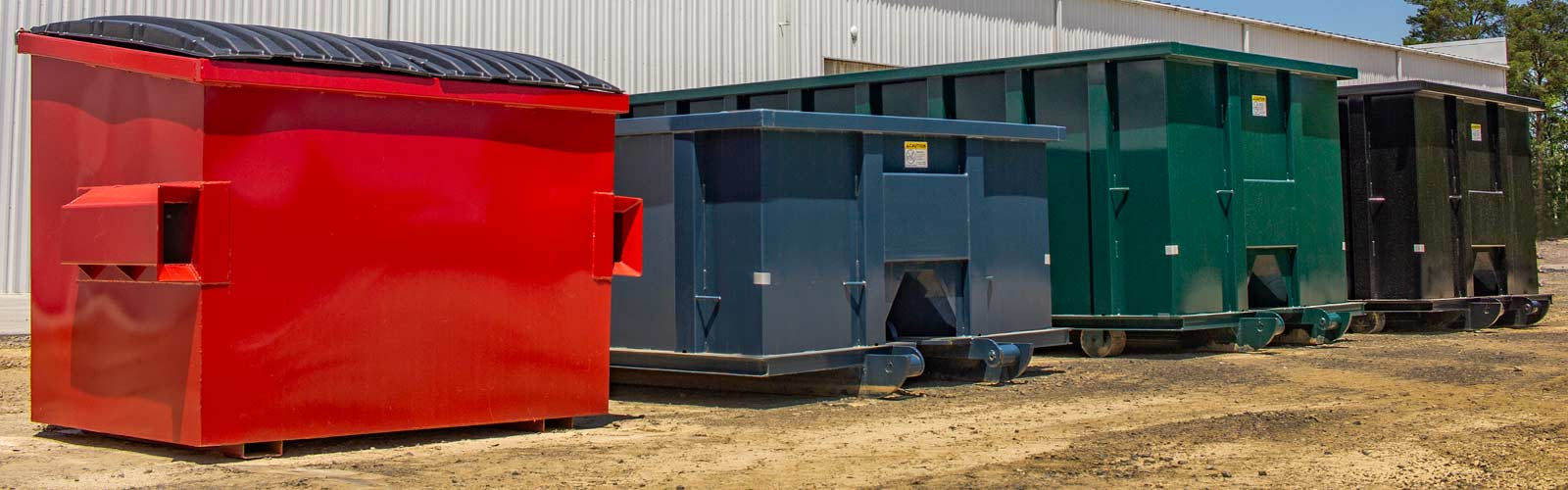 The lineup of WorkForce small can and rolloff containers